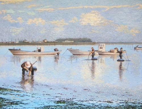 渥美のアサリ漁
