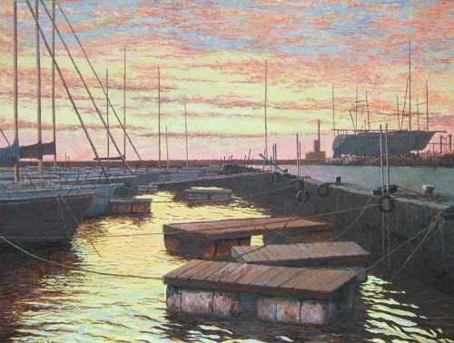 夕凪の白谷港