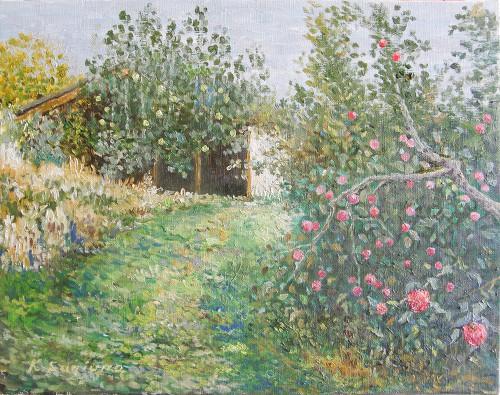 リンゴのある風景