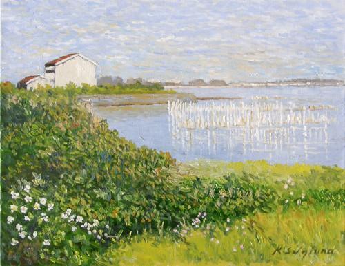 早春の岸辺