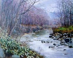 雨上がりの奥入瀬川