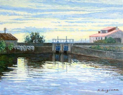 夜明けの入り江