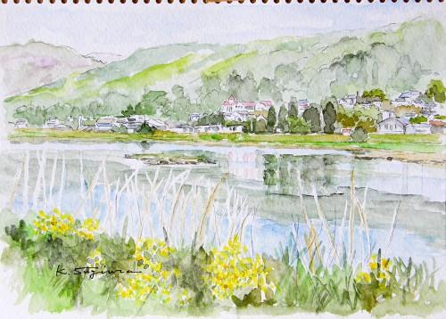 安曇野・白鳥湖