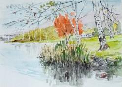 晩秋の白樺湖