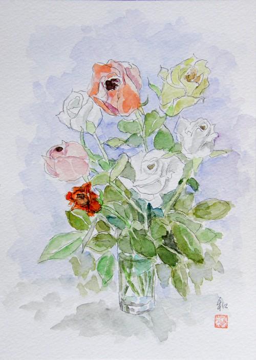 コップのバラ