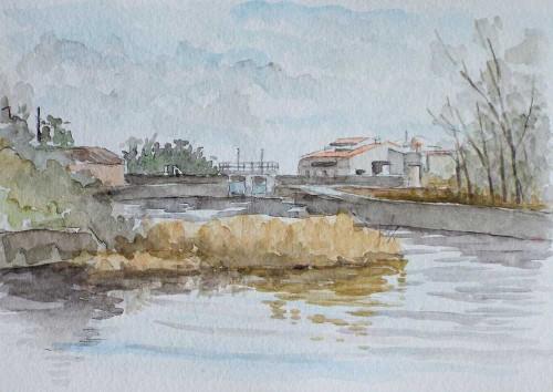 入り江の風景