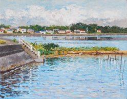 真夏の漁村
