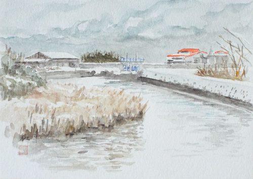積雪の朝(2)