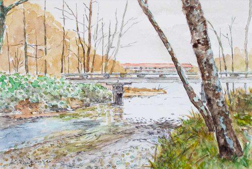 早春の焼見橋