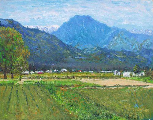 新緑の有明山