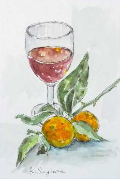 スダチとワイン