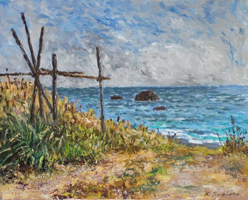 小春日和の海辺